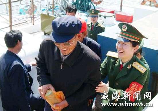 刘公岛筹建女子边防派出所 6名女警官登岛