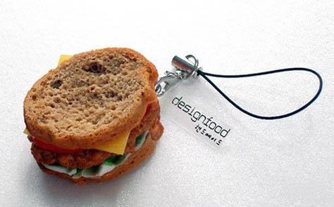 美味食物 可爱手机链
