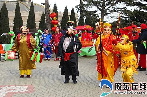 正月初九的塔山传统庙会