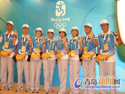 青岛新闻网讯7月17日上午,奥帆赛志愿者工作及服装展示新闻发布