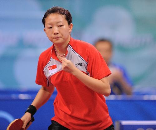 乒乓球女子单打第四轮 李佳薇4 3险胜林菱
