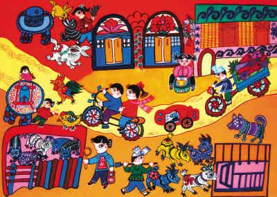 各民族团结儿童画