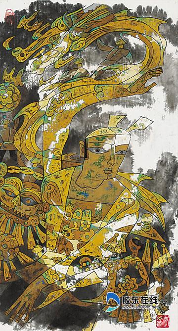 李志国现代彩墨画展 12日在烟台画院举行