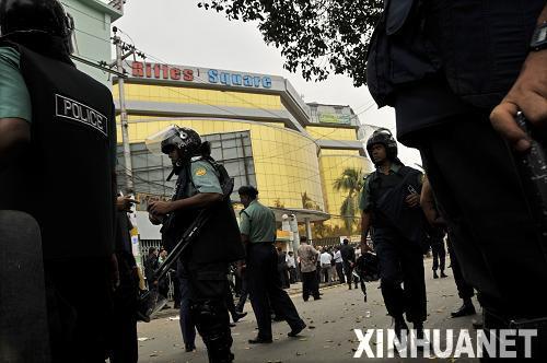 ,一些孟加拉国军警人员在位于首都达卡的准军事组织孟加拉国步枪图片