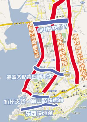青岛市五大快速路工程今年将全面启动届时从团岛到流亭机场只需半个