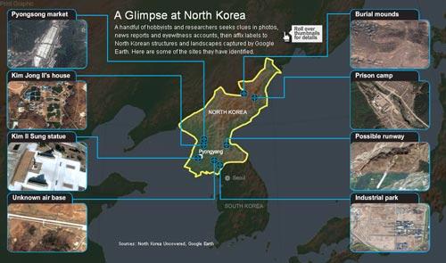 美网民揭朝鲜地图神秘面纱 比谷歌地球详细百倍