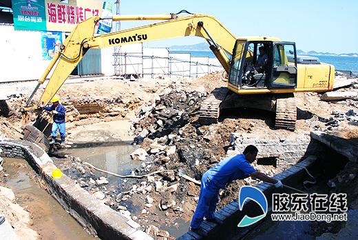 第一海水浴场救生瞭望塔开建(图)-瞭望塔-新闻中心