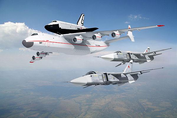 An-225的一号原型机是在1988年11月30日完工出厂,并于12月21日在基辅进行第一次试飞,1989年5月12日时它首次完成暴风雪号的背负飞行。但很可惜的是,由于当时苏联的经济已经恶化到不足以支持昂贵的太空计划,因此暴风雪计划在实际发射成功一次之后就被迫中止,而专门为了太空计划而设计建造的An-225自然失去了存在的意义,连正在建造中的二号机也在半途叫停,使得只真正背负暴风雪号飞行了一次的一号机,成为硕果仅存的一架An-225实机。苏联解体后An-225由安托诺夫所在的乌克兰接管,但由于该国的经