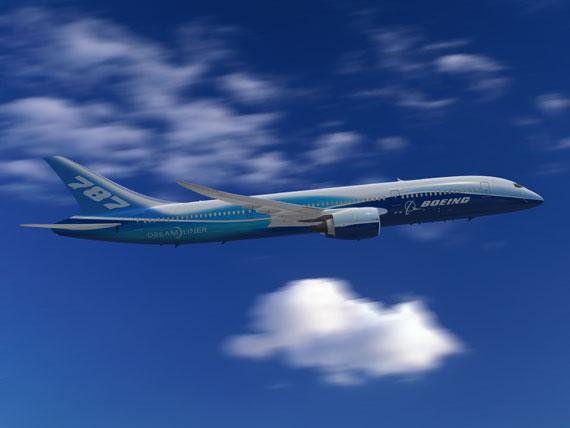 波音787型梦想飞机.图片来源:波音中国网站