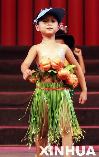 山东儿童另类时装秀献礼教师节
