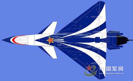 八一飞行表演队歼10战机新涂装亮相