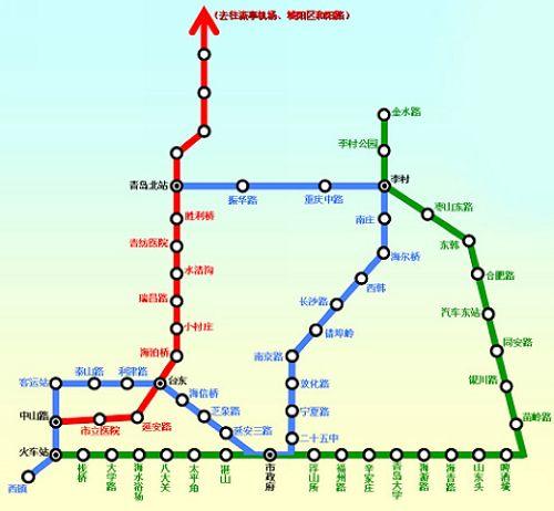 青岛地铁线路设计线路图