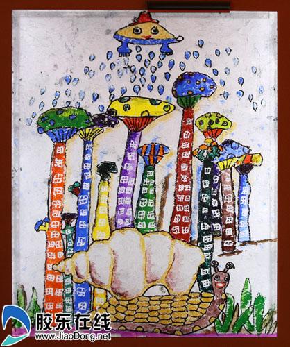 童心畅想未来 山东9岁儿童画作亮相中国馆