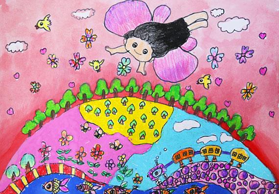 迎世博儿童创意绘画比赛第二批作品欣赏(图