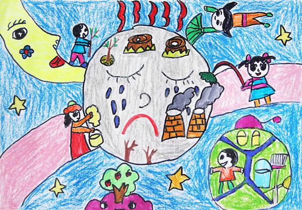 """迎世博""""儿童创意绘画比赛""""作品欣赏(图)图片"""