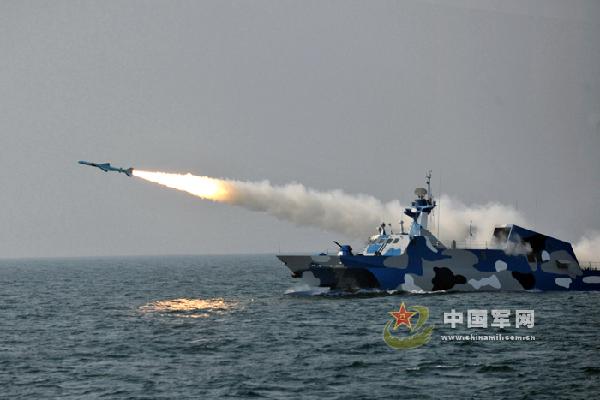 北海舰队9月1日至4日在青岛东南海区实兵演练