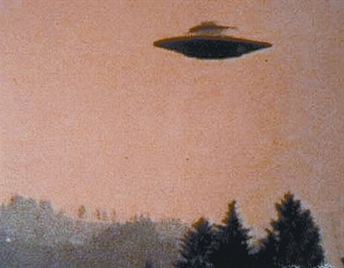 中国战机击落一架ufo图片