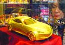 南京现5公斤重纯金车模价值300万(图)