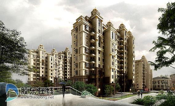 东林项目小高层住宅效果图 芝罘区卧龙园区将建高层住宅高清图片