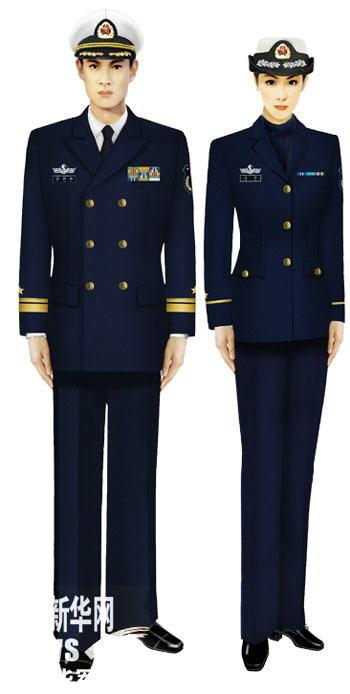 07式军服海军-我军新式常服棉大衣配发部队图片