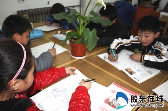 开发区第六小学组图写生进课堂(花卉)--烟台人工作总结小学学校体育图片
