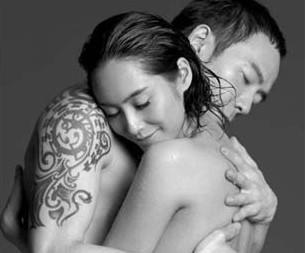 朱茵与男友相拥拍裸照 黄贯中确认女友已怀孕