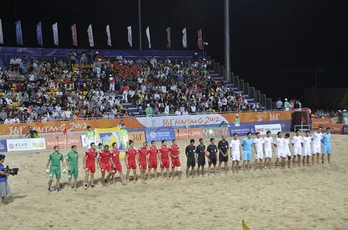 中国沙滩足球4-1击败叙利亚跻身四强