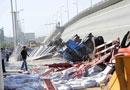 哈尔滨一大桥断裂侧翻 已造成3人死亡(组图)