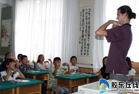 洋课堂走进蓬莱市第二v课堂小学英语老师卫生保健小学生图片