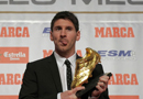 史上最强!梅西领走欧洲金靴 被赞为足球界乔丹