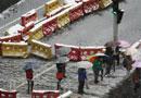 北京迎来雨夹雪天气 大幅降温影响出行 (组图)
