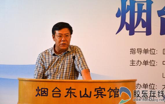 局长姜青山介绍烟台的环境保护情况
