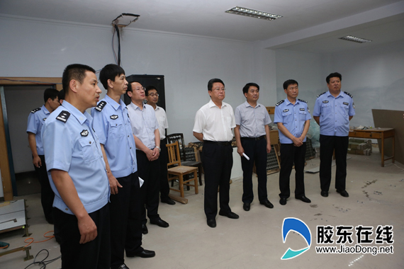 莱阳市委书记刘森同志调研技防建设情况_平安