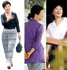 朴槿惠展现休假时尚:政治家的女性味儿(图)