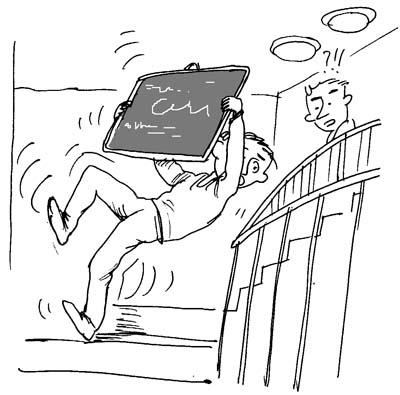 幼儿上楼梯简笔画