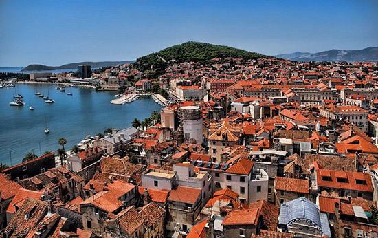 欧洲地中海小镇风景