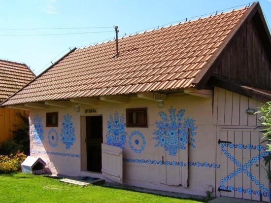 村庄儿童画画图片