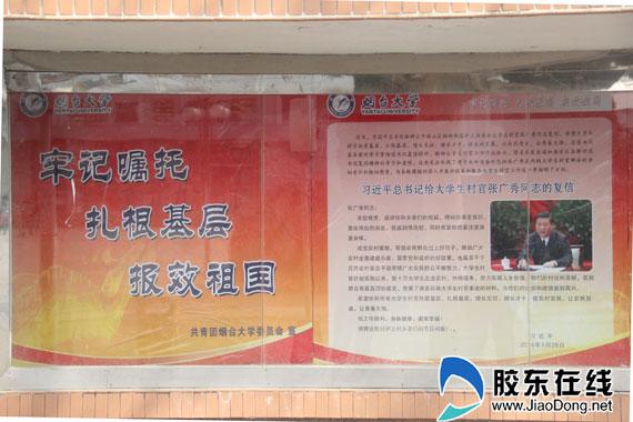 总书记复信村官现大学宣传栏 影响学生就业选择