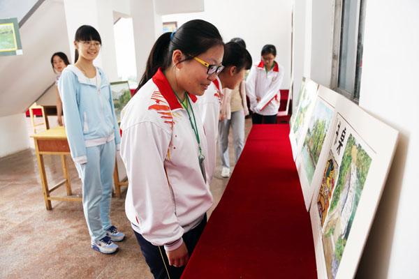 烟台一中高二美术班举办风景写生作品展