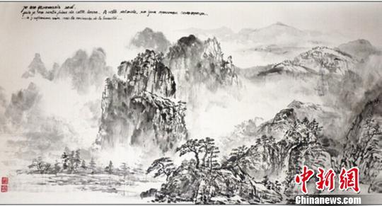 """法国画家学习中国水墨画30年以""""禅意""""入画"""