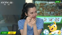 央视美女主播刘语熙为意大利出局飙泪(组图)