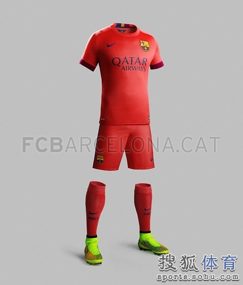 高清图:巴萨公布新季客场球衣 宇宙队依然橙色