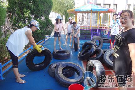 莱山区实验幼儿园开展暑期变废为宝活动
