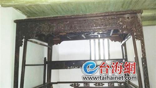 祖传百年雕花柏木古床待修缮整床无一颗铁钉