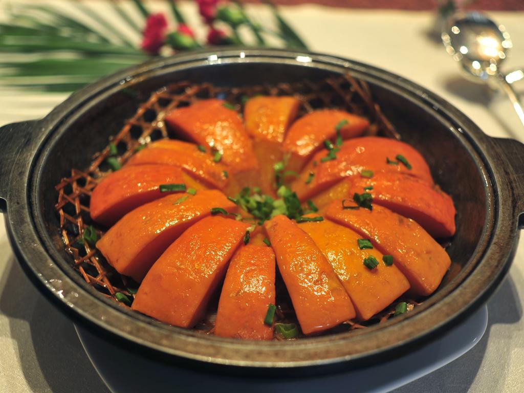 胶东在线大厦烟台牛肉海悦酱料酒店酒店干煸有机花菜28元/份美食酱做菜品好吃图片