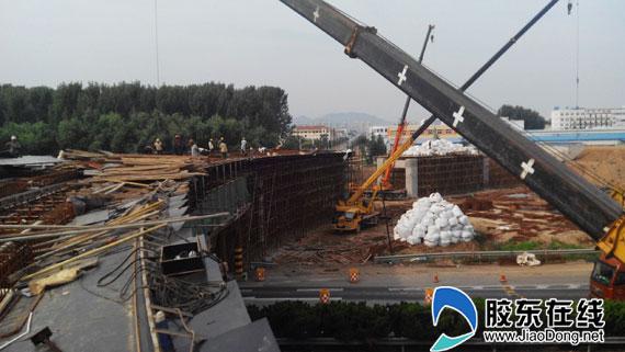 荣乌高速莱山互通立交桥改造 10月底完工通车
