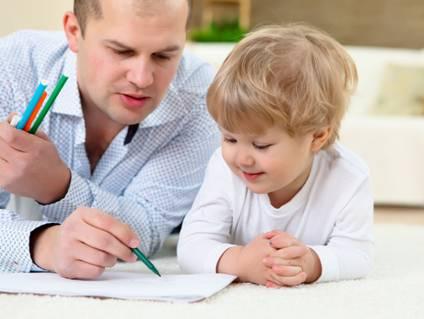 跟毕加索的父亲学习教育孩子图片