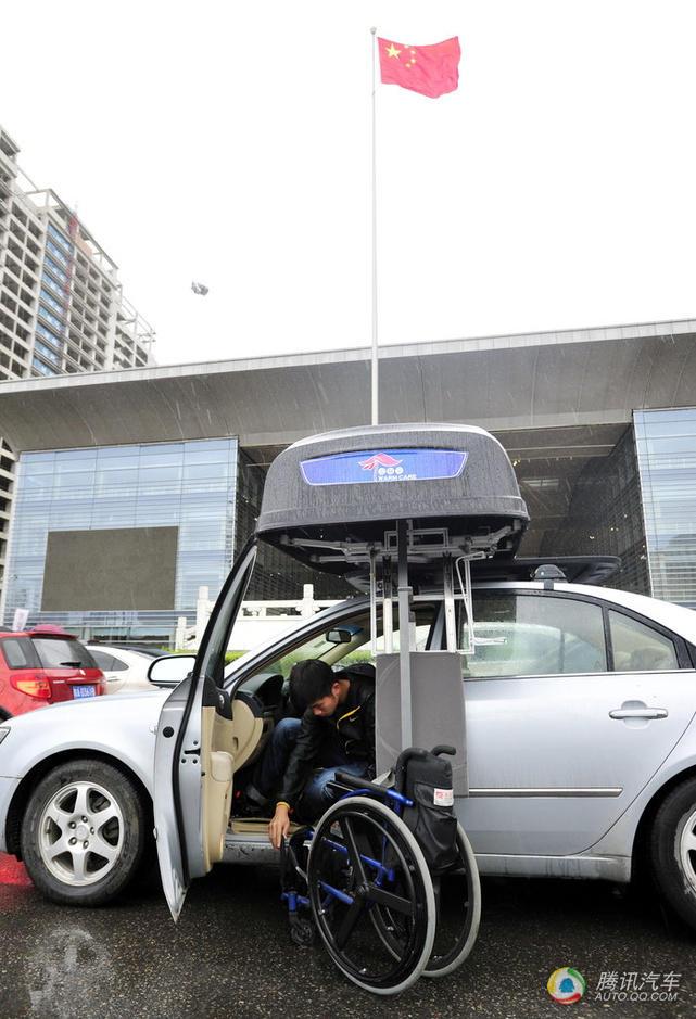 高中生发明车载轮椅箱残疾人驾车再无忧高中的说明文自白汽车图片