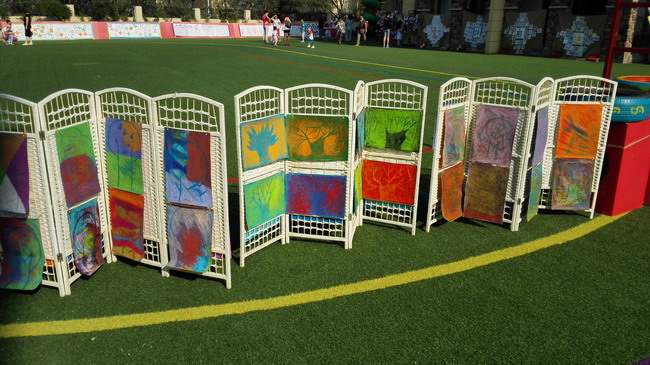 封楠)爱特启迪越秀幼儿园孩子们的创意美术作品在