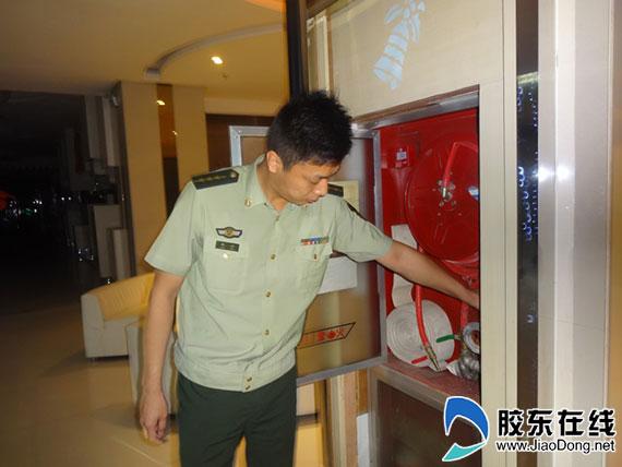 福山消防大队开展错时检查 保卫辖区平安(图)
